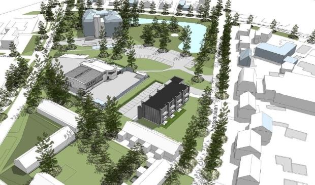 <p>Artist impressie van nieuwbouwplan Elkshove in Bergen</p>