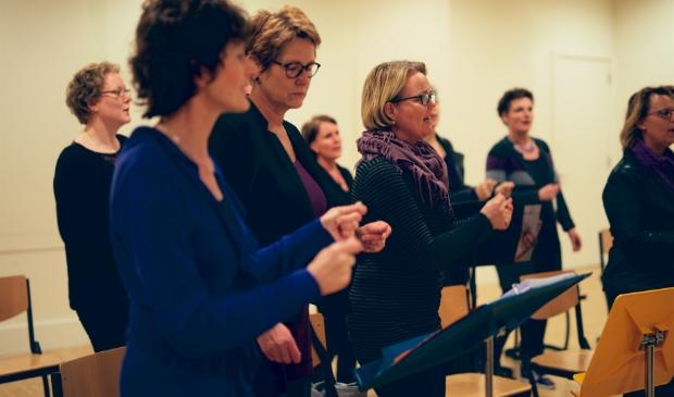 <p>Plezier staat voorop bij de Female Vocal Group Sing Out.</p>