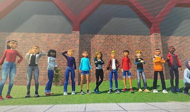 <p>Van de jonge ontwikkelaars zijn avatars gemaakt.</p>