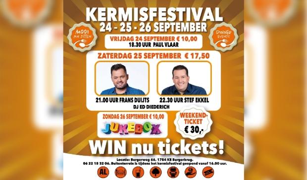 <p>Meld je aan voor de nieuwsbrief Schagen en maak kans op tickets voor het Kermisfestival in Burgerbrug</p>