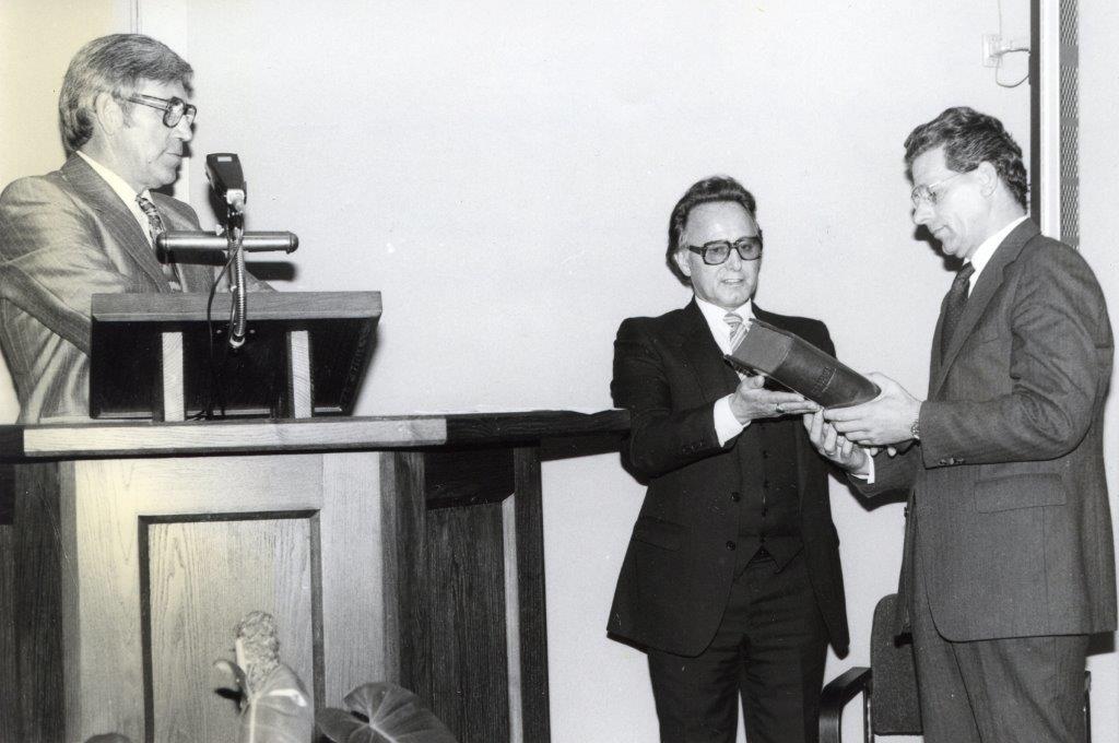 Opening nieuwe kerk Vrije Evangelische Gemeente, september '81. (Foto: aangeleverd) © rodi