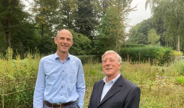 <p>Michiel de Koe en Bob van der Ploeg op Landgoed Kraaybeekerhof.</p>