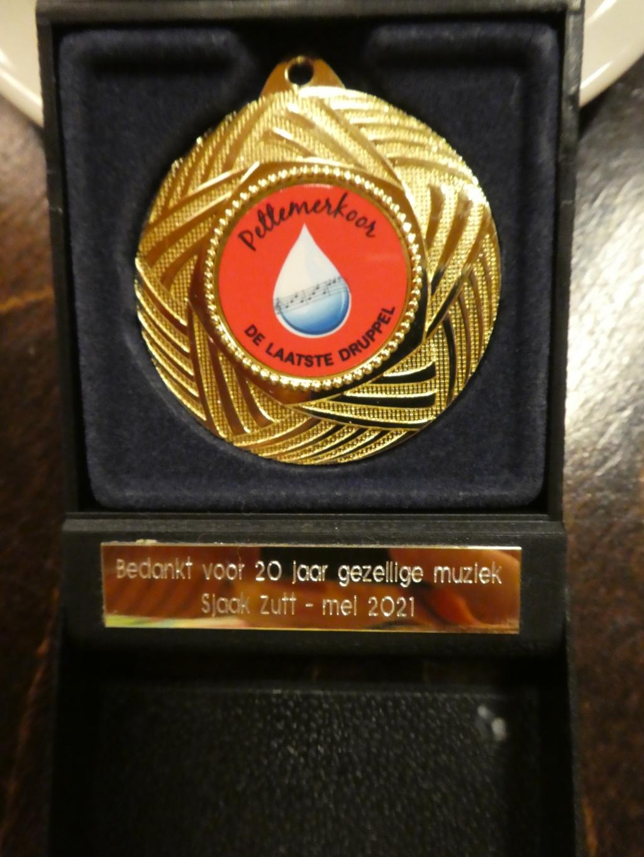 De medaille ( Foto: Coby van Noort ) © rodi
