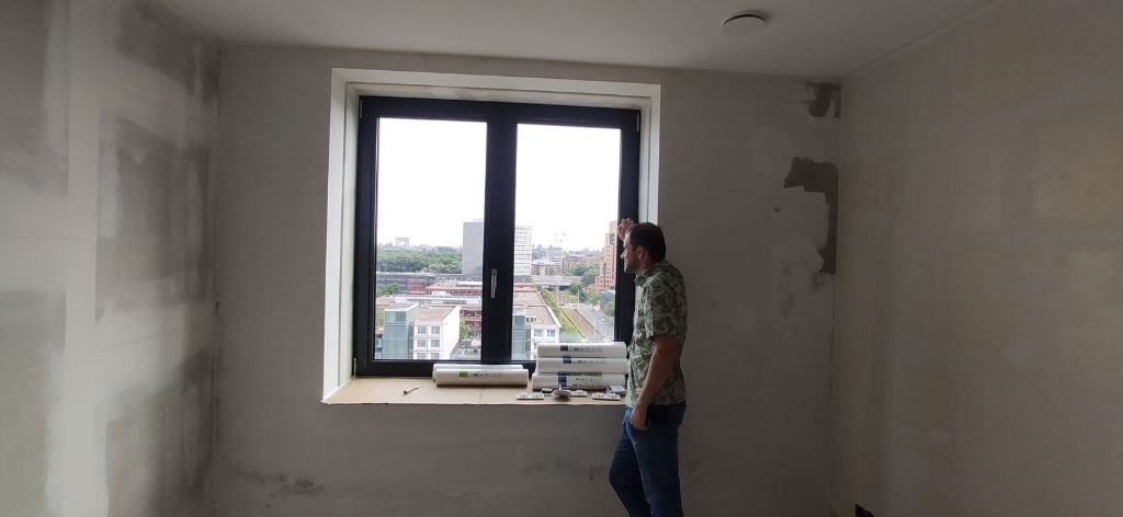 Het uitzicht van de woning van Wouter Daniels.  © rodi