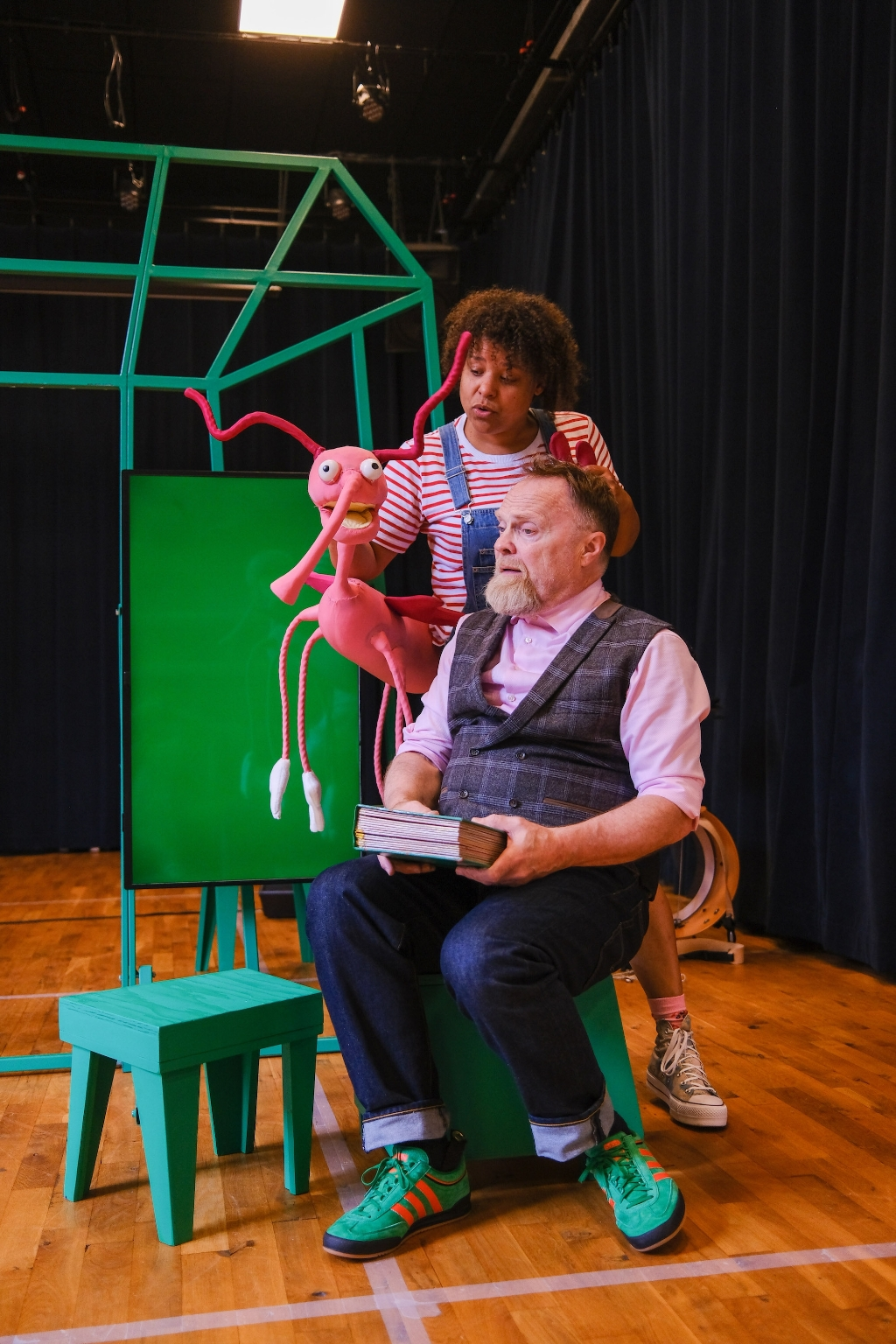 De voorstelling gaat over de zesjarige Lot en haar vader Loet.  (Foto: aangeleverd) © rodi