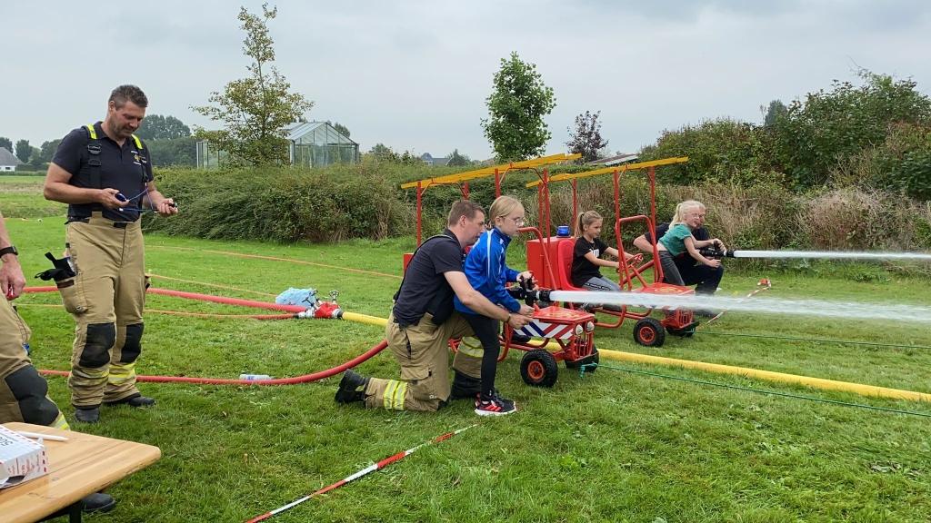 De kids deden hun best om de snelste tijd neer te zetten. (Foto: aangeleverd) © rodi