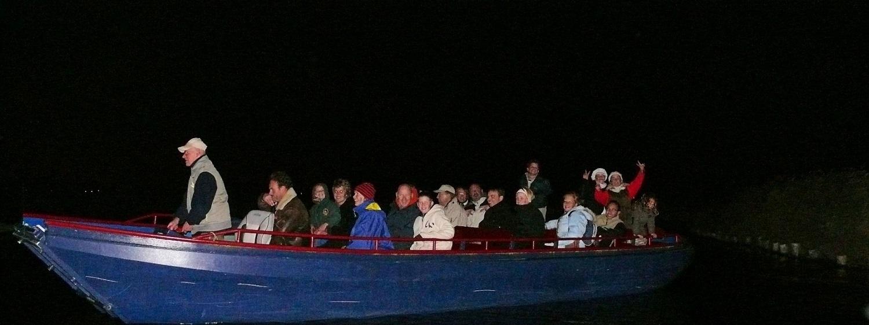 Op het water van het natuurgebied Ilperveld kunnen opvarenden het donker ervaren. (Foto: Fred de Waart)