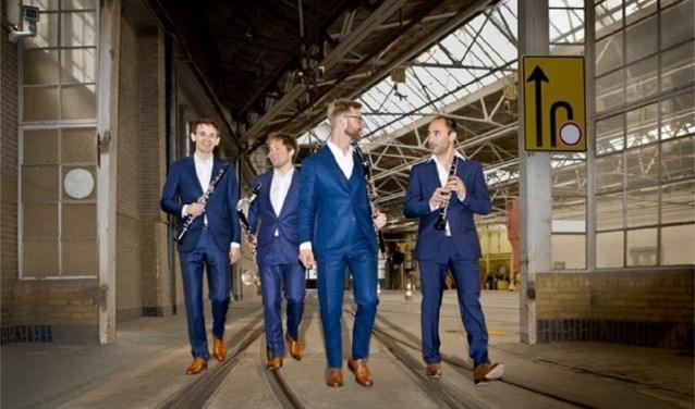 Het Nieuw Amsterdams Klarinet Kwartet is altijd op zoek naar muzikale uitdagingen. (Foto: aangeleverd)