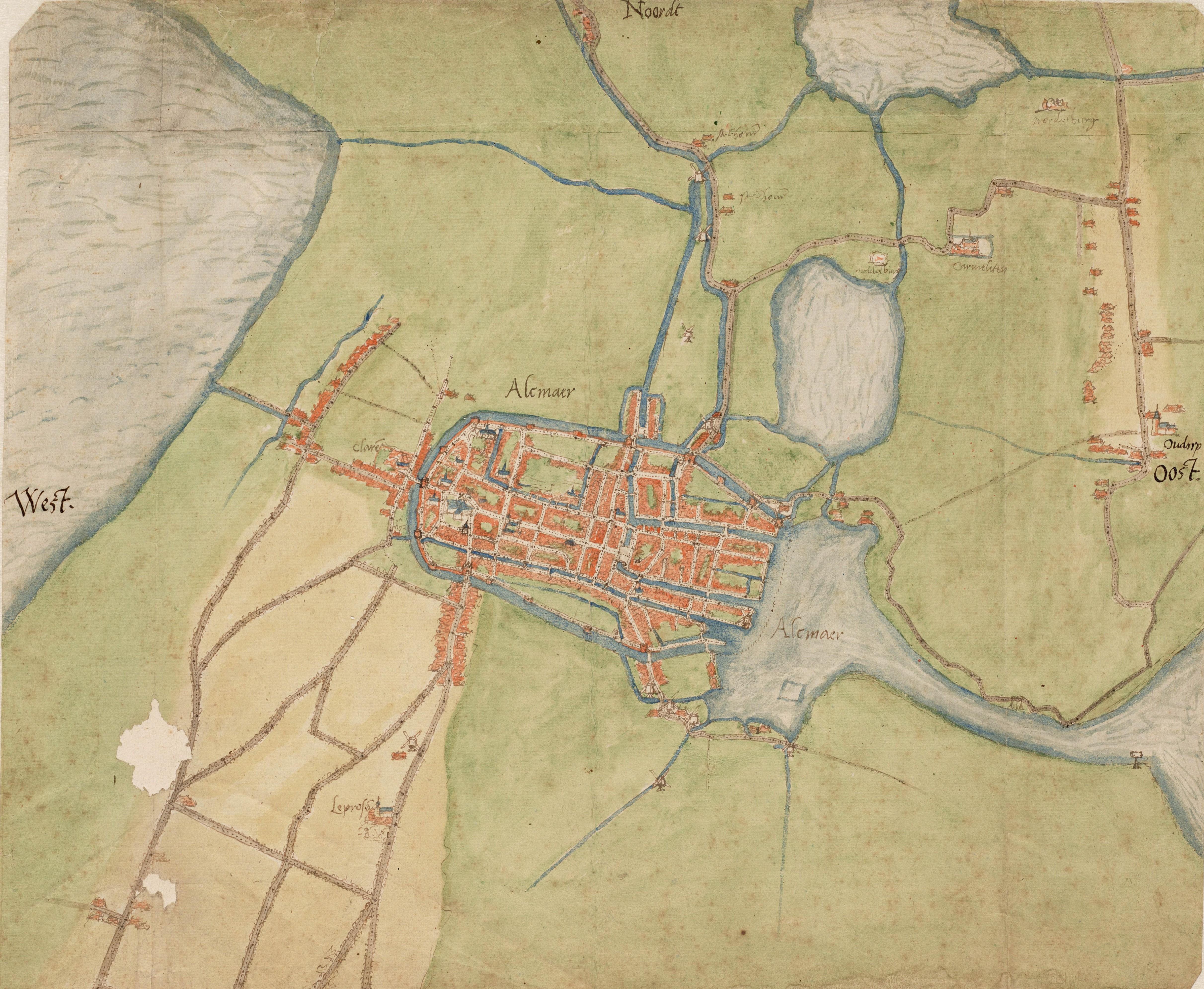 Historische kaarten centraal tijdens Historisch Café te Alkmaar. (Foto: aangeleverd)