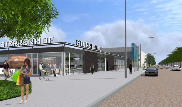 De ingang vanaf de westzijde. ONB Architecten.  © GrootNissewaard.nl