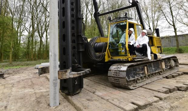 De eerste 'groene' paal.  © GrootNissewaard.nl