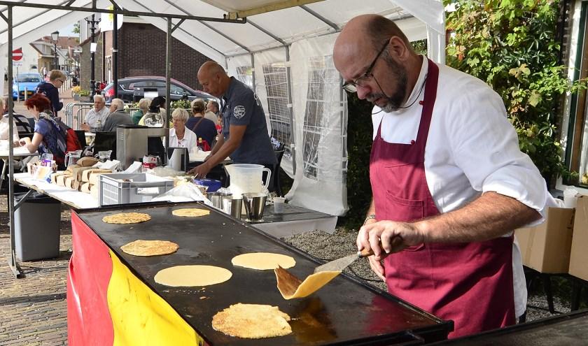 Vers gebakken pannenkoeken bij Molen Nooitgedacht. Archieffoto: René Bakker.