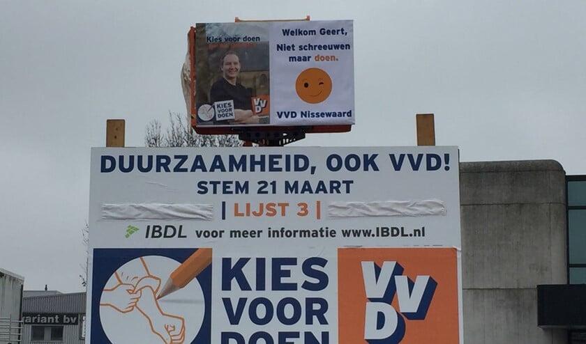 Het bord is vanmorgen geplaatst op de Boyleweg, langs de Groene Kruisweg.