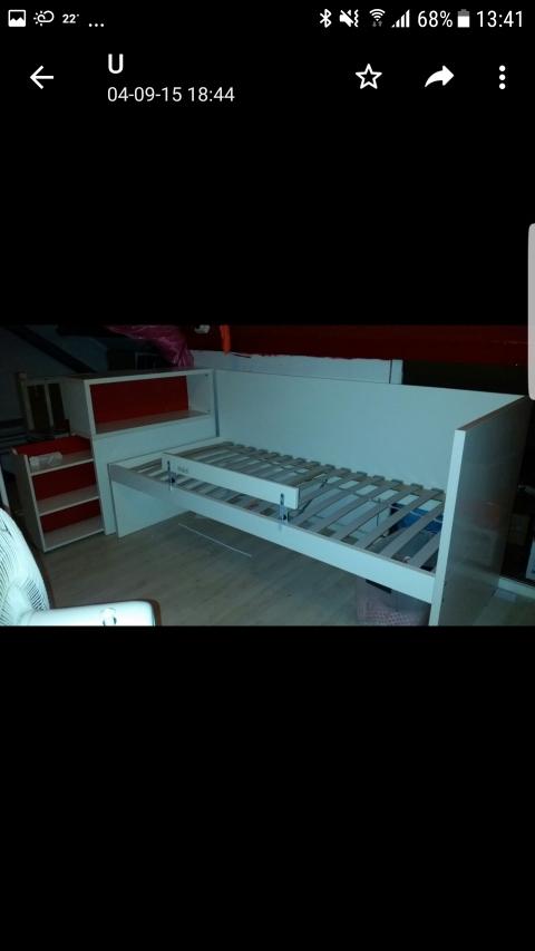 Betere 1 persoonsbed van Ikea; kleur wit- marktplein   BrielsNieuwsland.nl PP-68