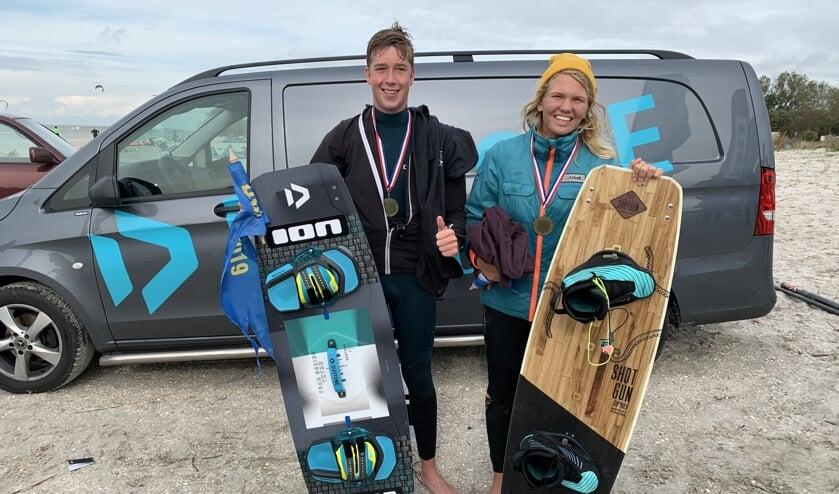 De trotse kampioenen Joris en Jenna!