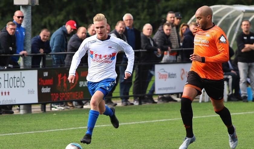 SC Botlek stond zaterdag ruim voor tegen HBSS, maar verloor toch van de Schiedamse ploeg.
