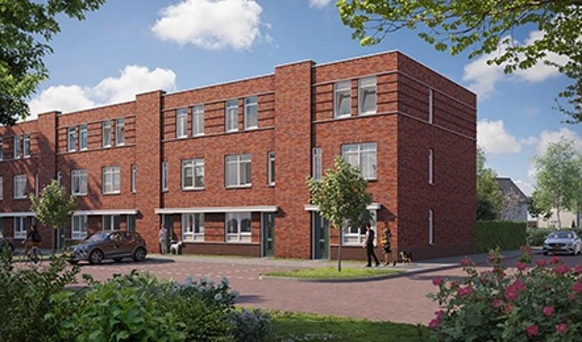 Deze woning, type B, heeft drie volledige woonlagen.
