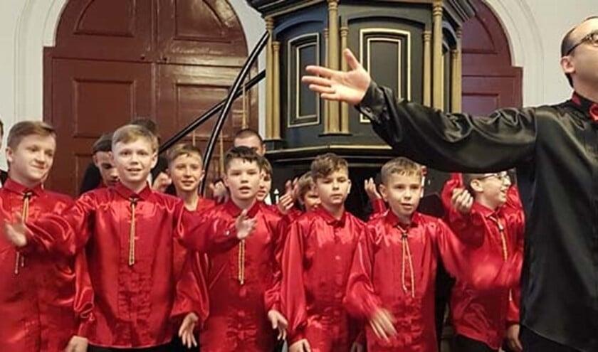 Het Oekraïens jongenskoor staat onder leiding van Ruben Tolmachov