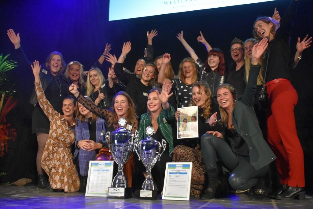 Het winnende team van koffiebar NON.  © Groot-Westland.nl