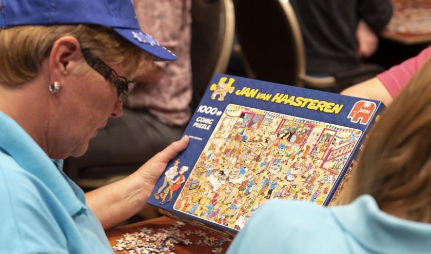 Ruim vierhonderd enthousiaste puzzelfans streden om een finaleplaats.