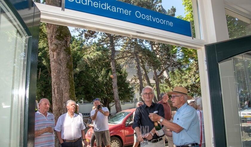 De opening van de Oudheidkamer in Oostvoorne in juni 2019