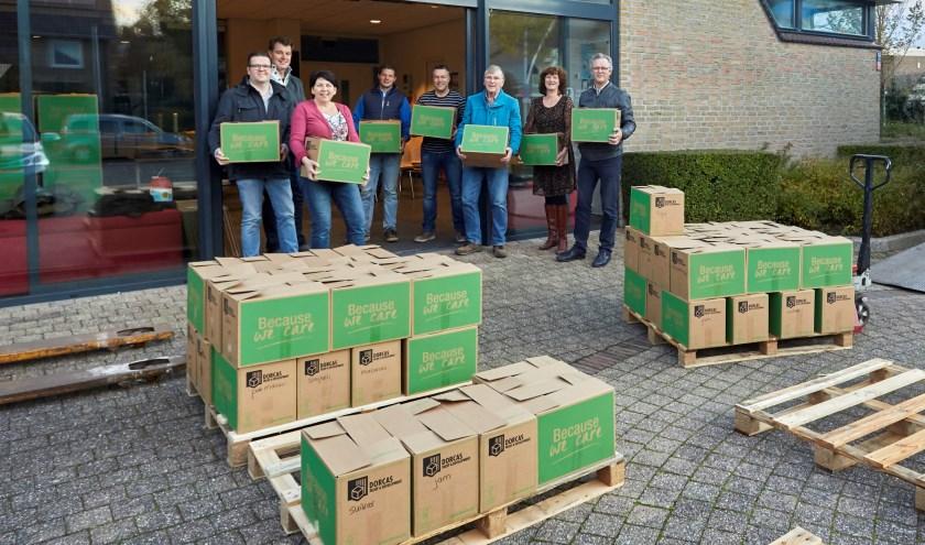 De Dorcas Voedselactie heeft in Monster 170 pakketten opgeleverd voor de allerarmsten in Oost-Europa.