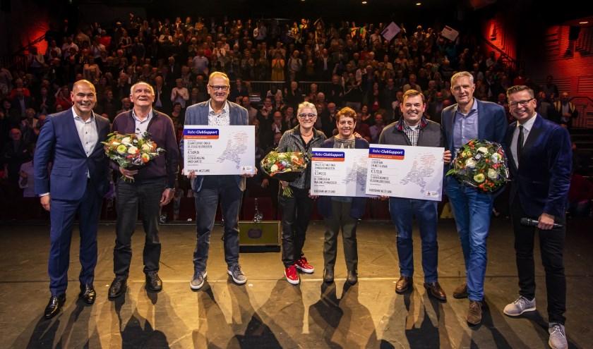 De winnaars van de Rabo ClubSupport.