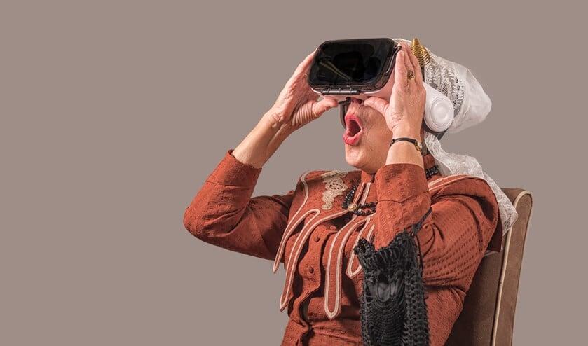 De historische Virtual Reality beleving van de watersnood zette het Streekmuseum Goeree-Overflakkee in 2018 landelijk op de kaart. (Foto: Magda Korthals)