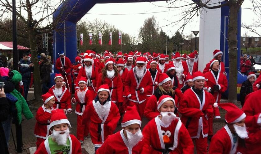 De Santa Run belooft weer een heel spektakel te worden.