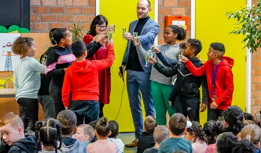 Felicitaties van onderwijswethouder Struijk.