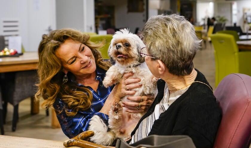 <p>Anita gaat met &eacute;&eacute;n van haar honden regelmatig op bezoek bij ouderen in een verzorgingstehuis.&nbsp;</p>