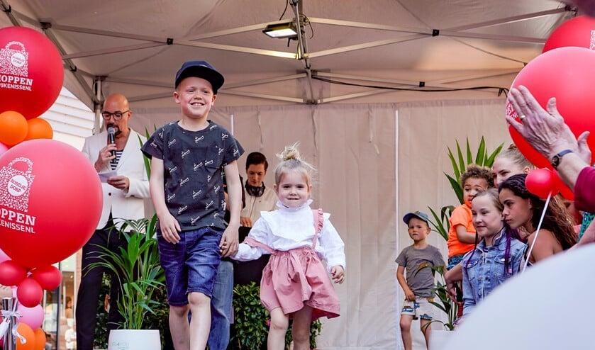 Ook kids liepen op de catwalk in het Winkelhart