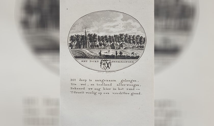 Het dorp Hekelingen, een van de prenten uit de collectie van Stichting Oud-Geervliet.
