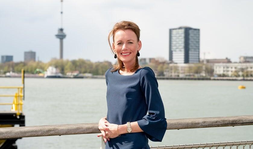 Caroline Nagtegaal in haar woonplaats Rotterdam.