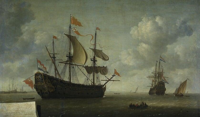 Het opbrengen van de Royal Charles Jeronymus van Diest II 1667. Collectie Rijksmuseum Amsterdam