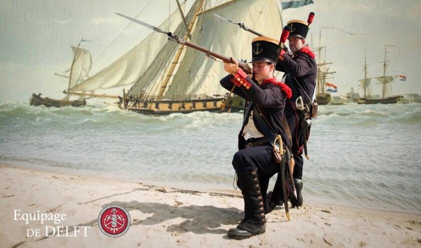 Stephan Vroom en Arnold de Lange (Mariniers van het 'Corps Mariniers' 1801-1810)