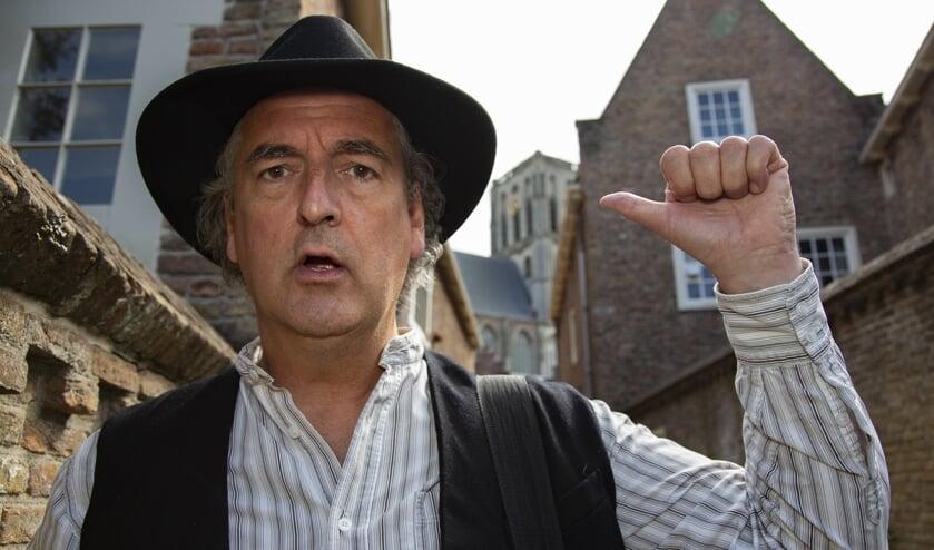 Verhalenverteller Franciscus in Brielle (Foto Storytrail.nl / Rachel de Liefde)