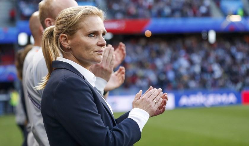 Sarina Wiegman zette al haar enthousiasme en deskundigheid in om de Oranje Leeuwinnen naar de wereldtitel te leiden.