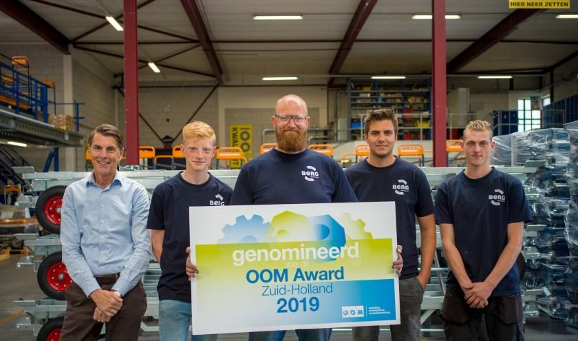 Berg Hortimotive is genomineerd voor de OOM-Award  Zuid-Holland 2019.