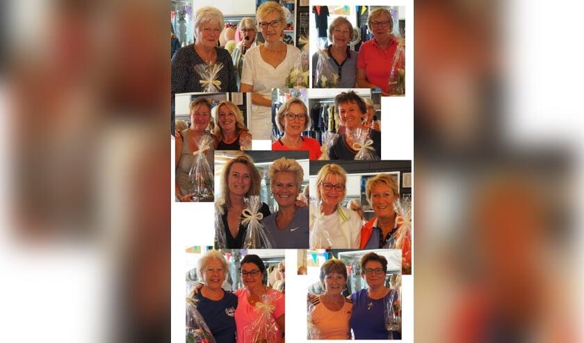Enkele van de gelukkige poulewinnaars - foto Edith Schouten