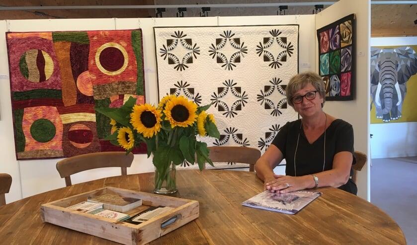 Tijdens de opendagen zijn er diverse quilts te zien, van Marianne zelf, maar ook van diverse cursisten.