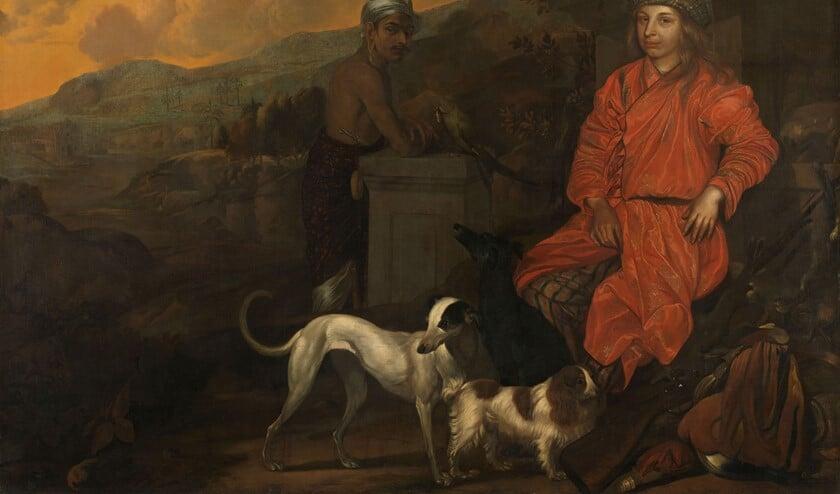 Philippus Baldaeus en zijn knecht Gerrit Mossopotam. Collectie Rijksmuseum. De reproductie is te zien in Geervliet.