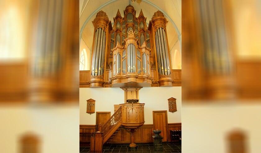 Detail van het Van Vulpen orgel van de Dorpskerk te Ouddorp