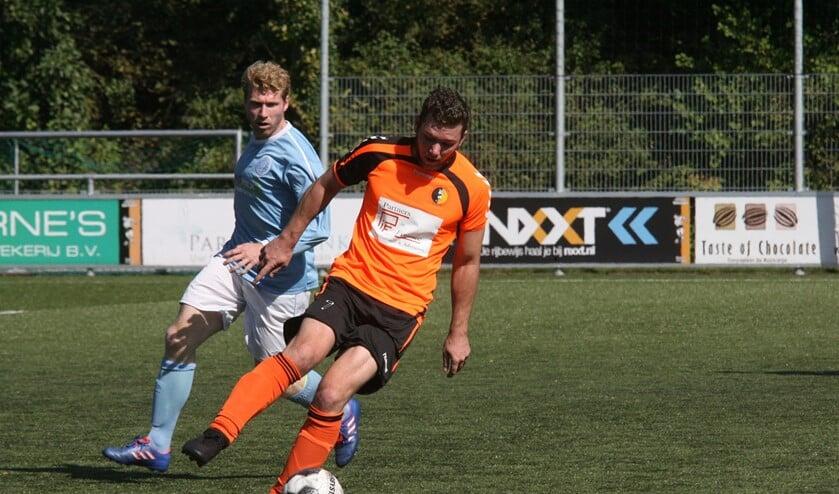 Sven Groenenboom kwam tegen een sterk HermesDVS niet tot scoren voor Rockanje. (Foto: Wil van Balen).