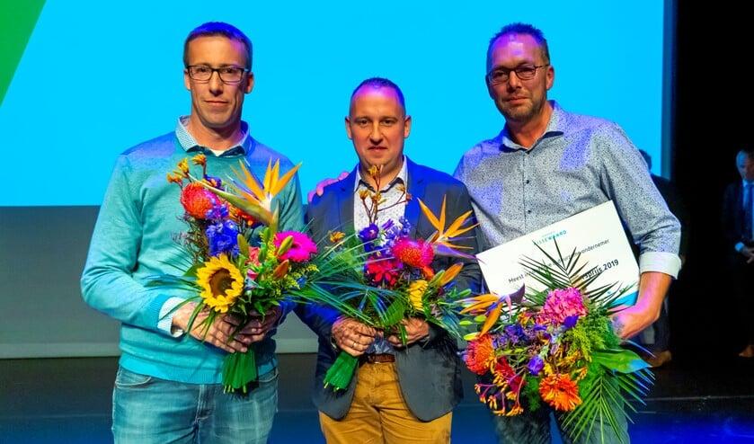 Gijs Uit Beijerse (rechts) won de Ondernemersprijs 2019.