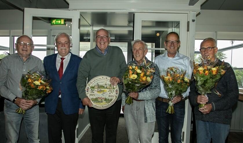 Piet Toledo, Wim van Rietschoten, Piet Kraaijenbrink, Ad Boutkam, Jan Gorzeman en Maarten van de Polder (vlnr) (foto Wil van Balen)
