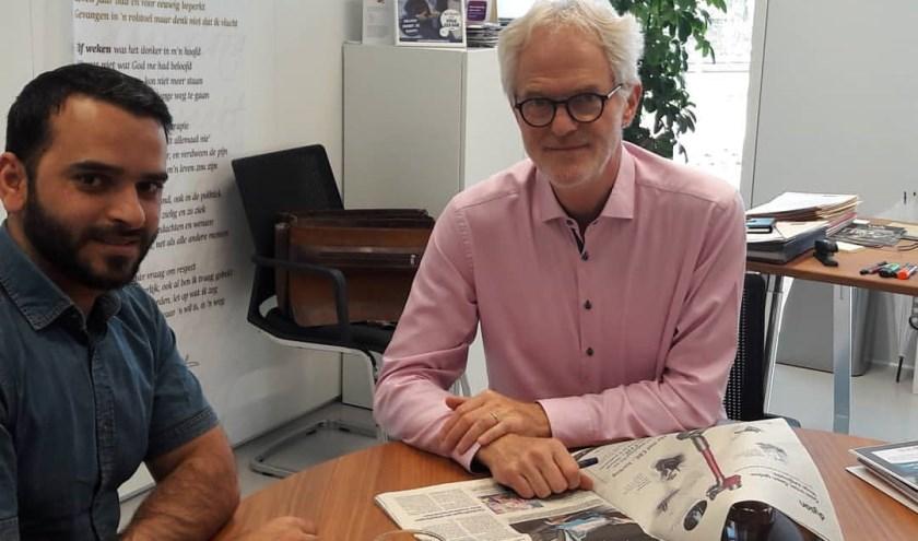 Ook wethouder Piet Vreugdenhil volgde de training tot taalmaatje.