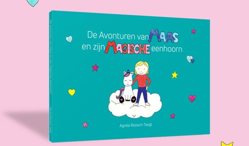 <p>Het prentenboek &lsquo;De avonturen van Maas en zijn magische eenhoorn&rsquo; </p>