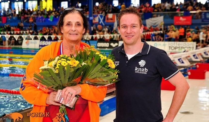 Zwemveterane Connie Boer uit Rockanje was weer heel succesvol op de ONK zwemmen voor Masters.