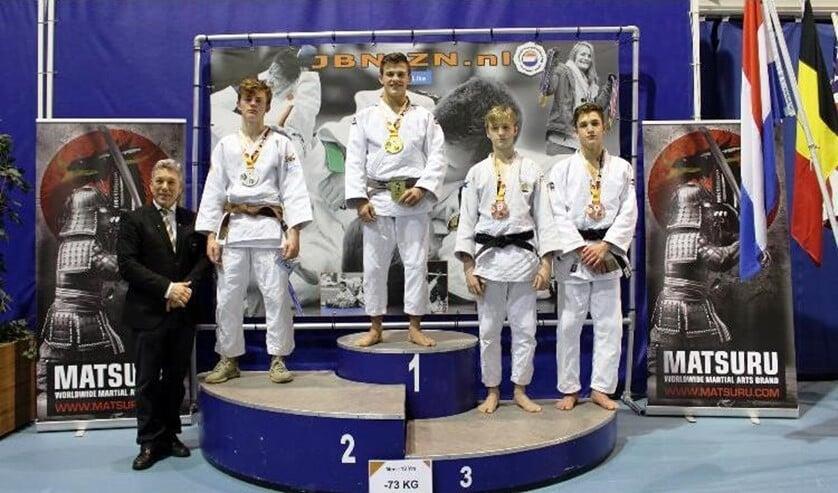 Tommy van den Hooven, hier als winnaar bij het NK Espoirs, onlangs gehouden in Eindhoven.